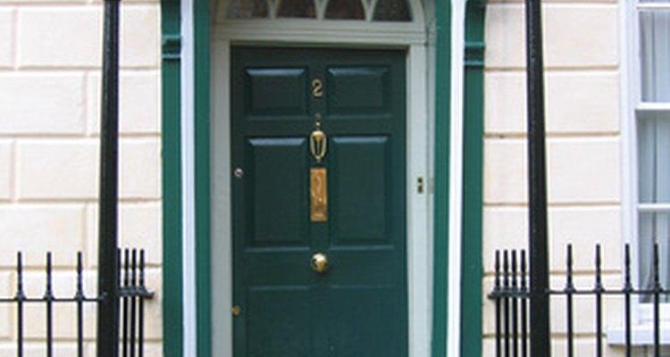 Make the door frame of your exterior door wider