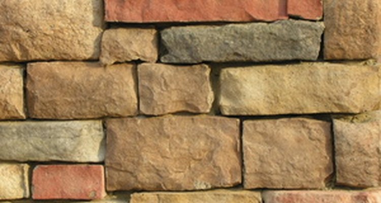 A dry stack fieldstone wall