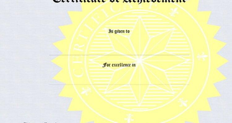 Os certificados podem ser criados utilizando o Microsoft Word