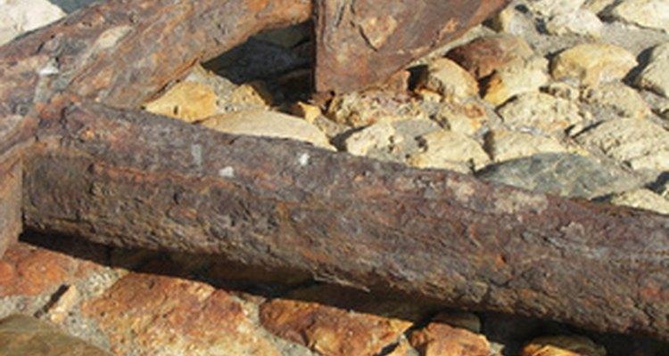 Corrosión en un material.