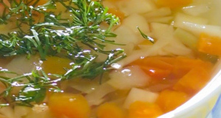 Alguns vegetais podem dar à sopa um sabor amargo
