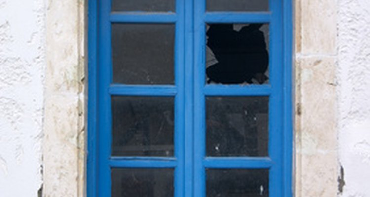 A broken window that goes unrepaired will lead to more broken windows, according to a theory.