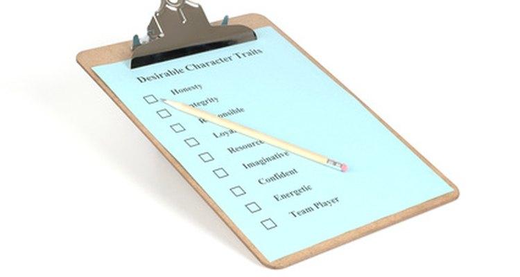 Faça uma lista das etapas necessárias em uma redação