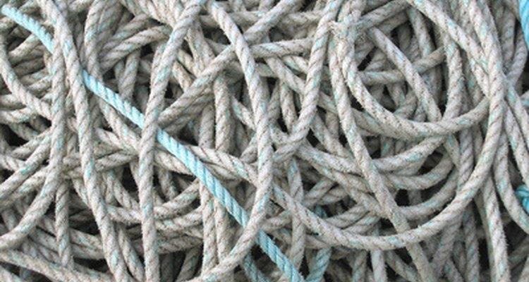 Elige cuerda gruesa y durable.