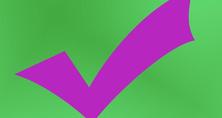 As marcas de verificação pode chamar mais atençãoo a itens importantes no PowerPoint