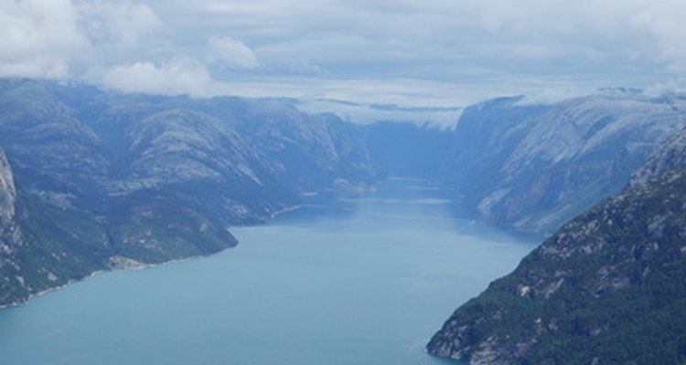 Fjords are shaped as valleys due to glaciers.