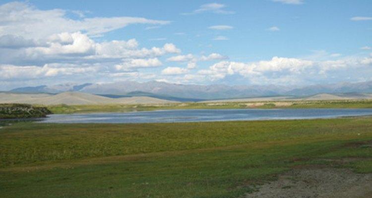 Las praderas de Mongolia se encuentran en el tipo de clima de la zona templada de la estepa de latitudes medias.