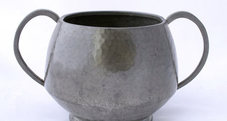 Pewter has a dull matt finish when compared to silver plate.