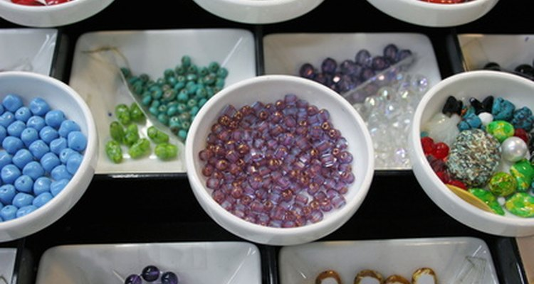 Choose colourful beads for your mosaic.