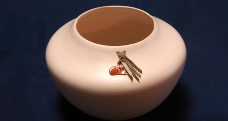 Engrave rough ceramic to turn a plain object into something special.