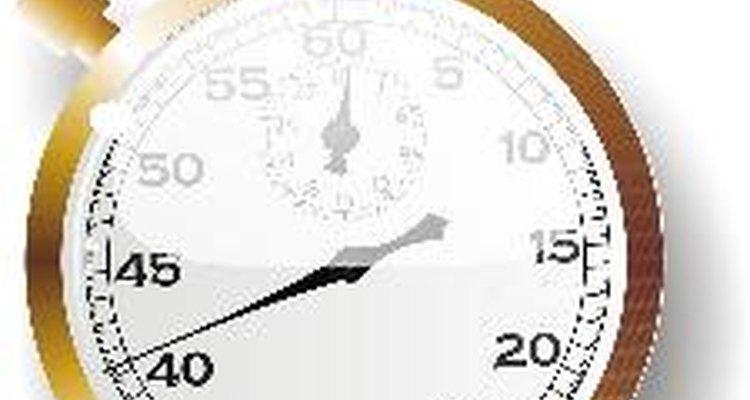 Funcionamiento del cronómetro.