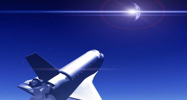 El transbordador espacial es una de las naves espaciales que usan materiales de fibra de carbón.