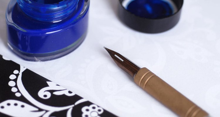 Fountain pens had their own reservoir of ink.