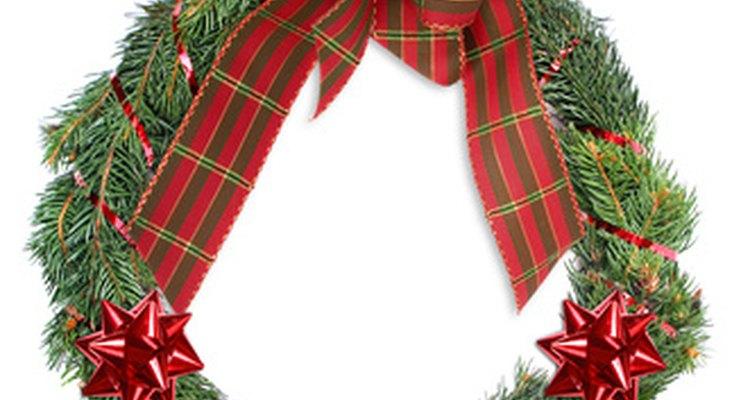 La corona de Navidad simboliza el círculo de la vida.