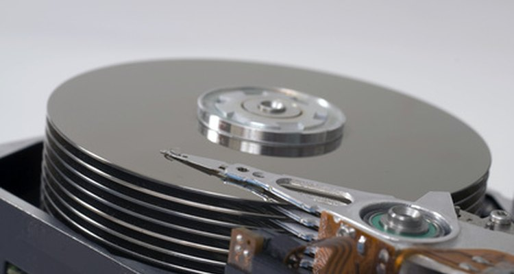 Hard drive disks with read/write heads.