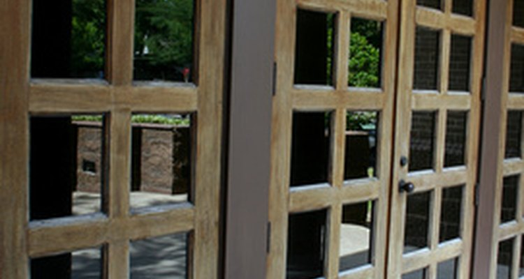 Learn how to replace a door panel with glass.