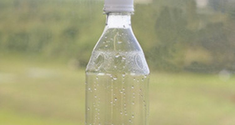 You can make a clear plastic tube from a water bottle.