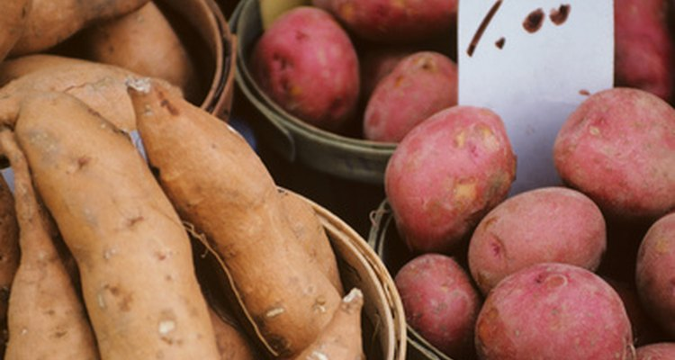 Shop at your local farmers market for fresh waxy potatoes, perfect for roasting.