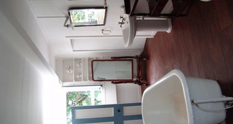 A clean cast iron bathtub will make any bathroom special.