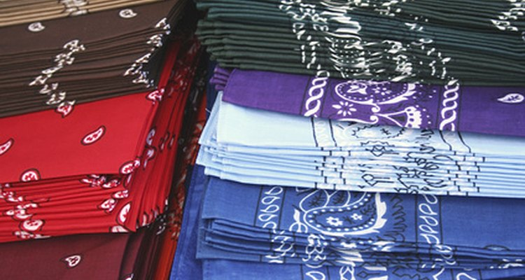 A bandana colour can represent group affiliation.