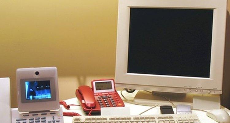 Um escritório moderno pode precisar de tomadas de telefone extras