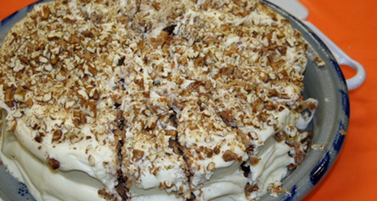 Cream Cheese icing is a favourite topping of carrot cake.