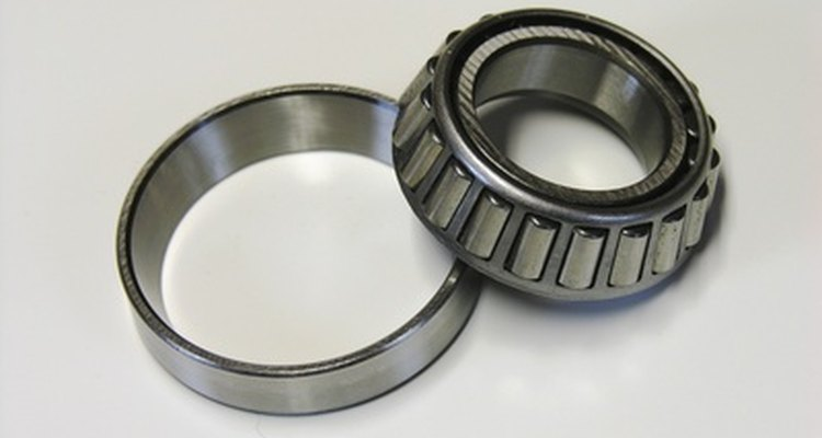 Wheel bearings can be separate components (pictured) or integrated inside the hub. assembly.