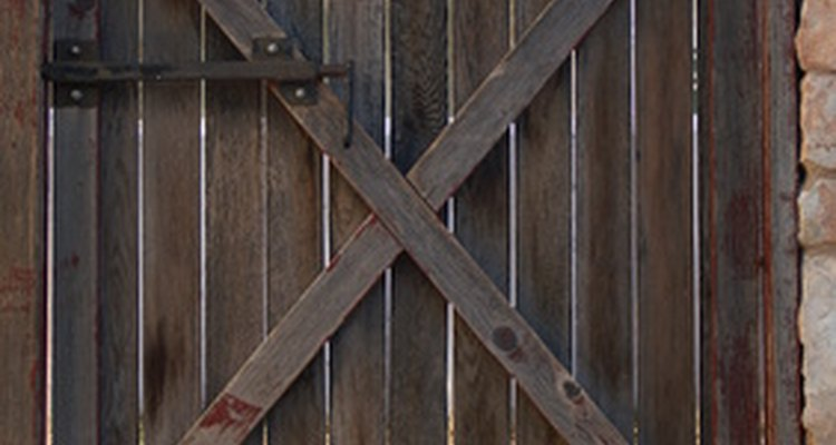Years of use and abuse can cause a wooden gate to twist.