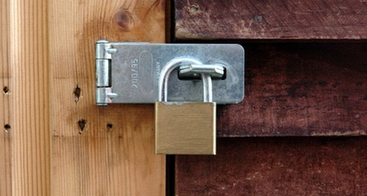 Example of a common hasp fastening latch.