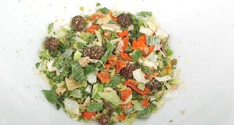 Vegetales deshidratados listos para consumir.