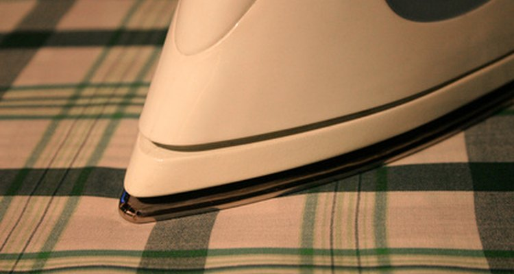 Ironing the fabric gives it a fresher appearance.