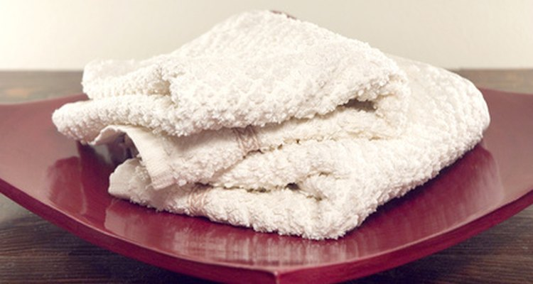 Old white towels are great for stain removal.