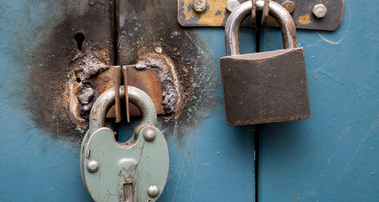 Padlock hasps and latches.