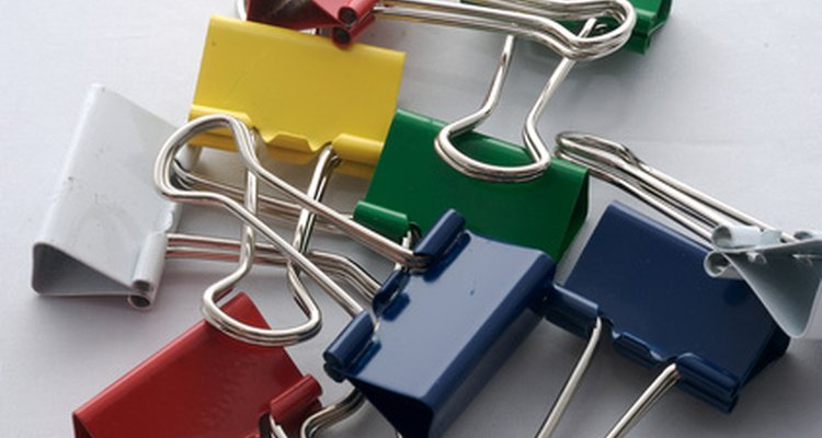 Use binder clips to secure papers.