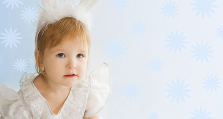 A child's bunny rabbit costume is easy to make
