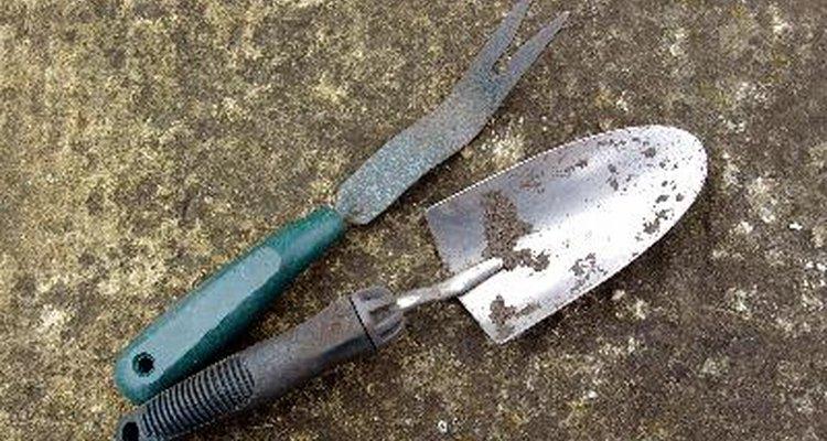 Una pala de mano es una versión en miniatura de una azada.