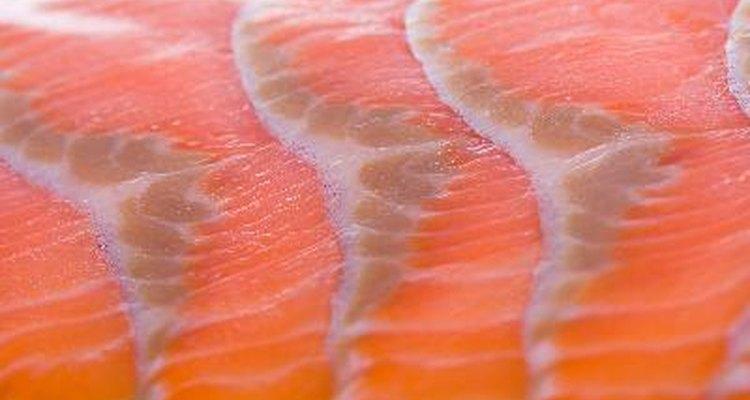Carne de salmón.