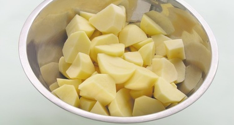Do not let your potatoes turn grey in the refrigerator.