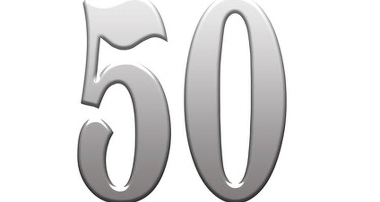Os 50 anos são uma marca em diferentes ocasiões