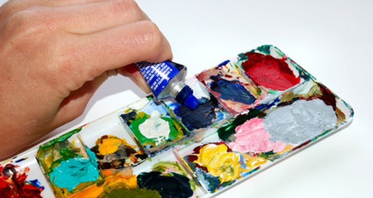 Tinta acrílica vem em uma variedade de cores e tipos, cada uma leva um longo tempo para secar