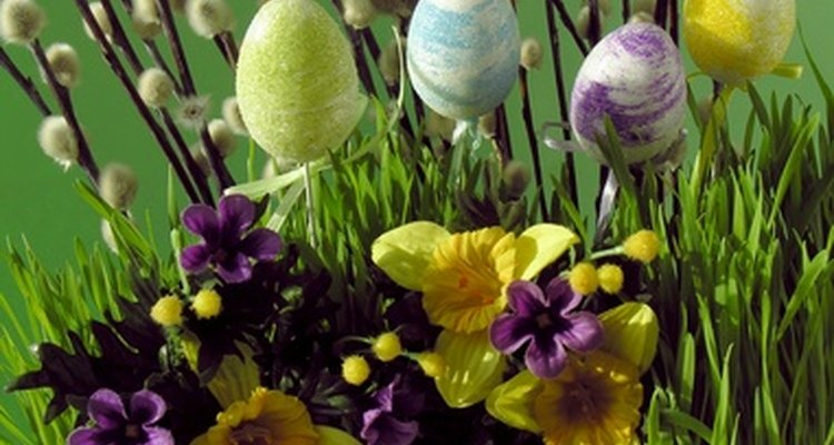 Decorate your church garden for the Easter holiday.