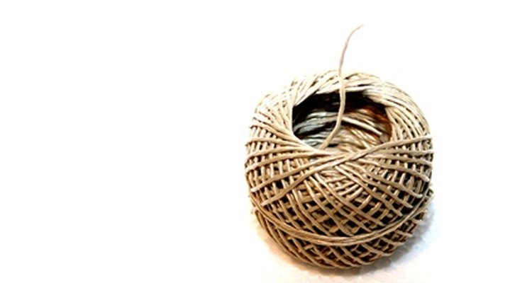 A roll of natural coloured hemp twine.