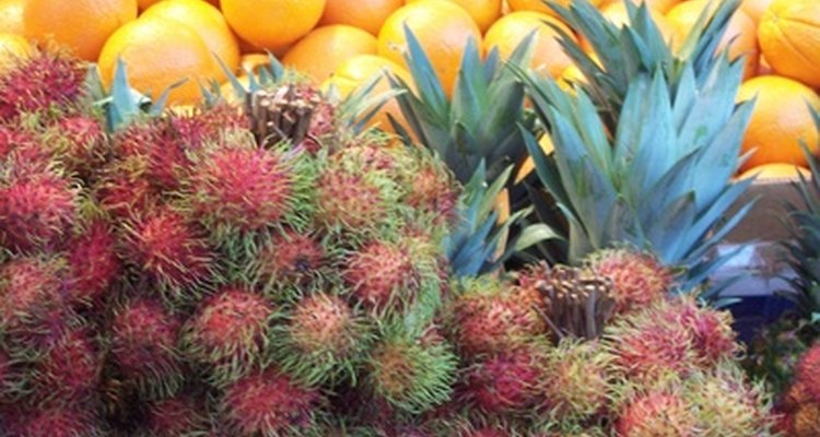 La importación de frutas exóticas como estas puede estar limitado dependiendo del tipo y país de origen.