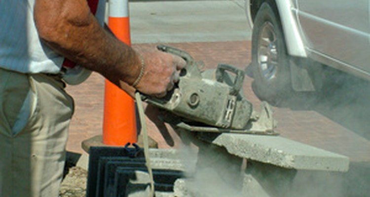 Concrete blocks can be recycled for new building projects.