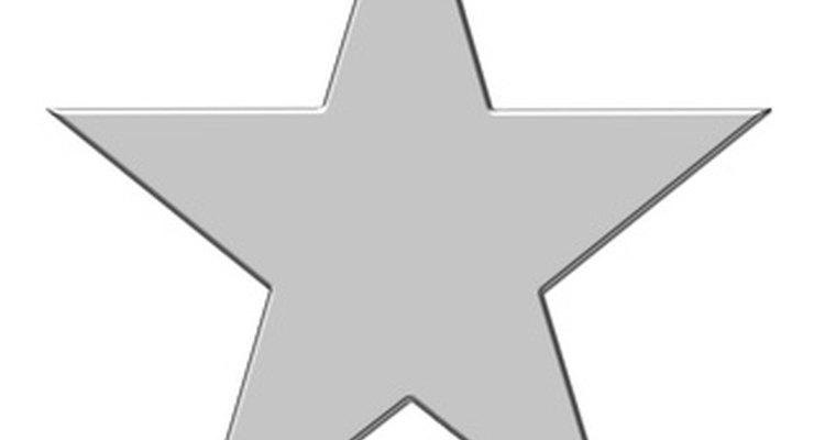 As pontas externas de uma estrela simples de cinco pontas possuem ângulos de 180/5=72 graus
