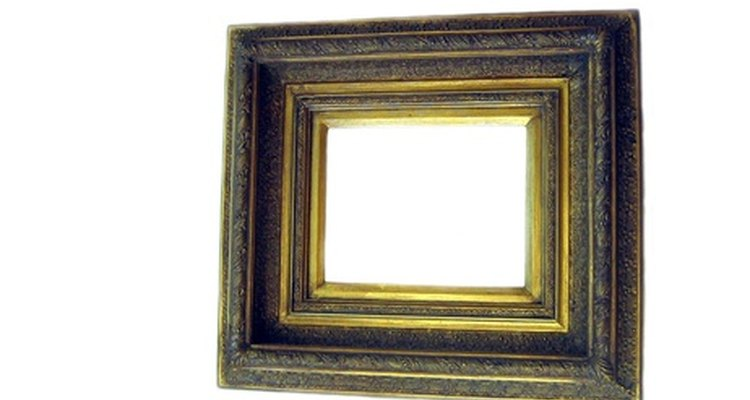 Gilt finish on picture frame