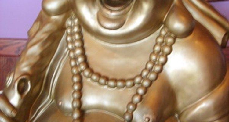 Diz-se dar sorte uma estátua de Buda barrigudo e sorridente