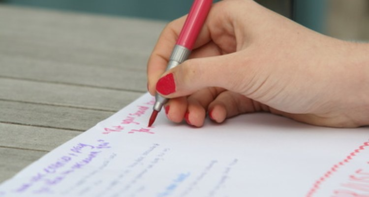 Holding a pen properly is often challenging for someone with dyspraxia.