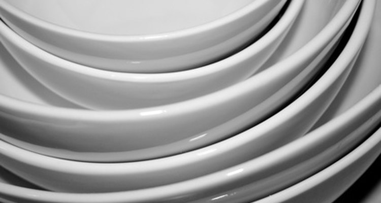 Dinnerware comes in a variety of materials, including earthenware, stoneware and ironstone.