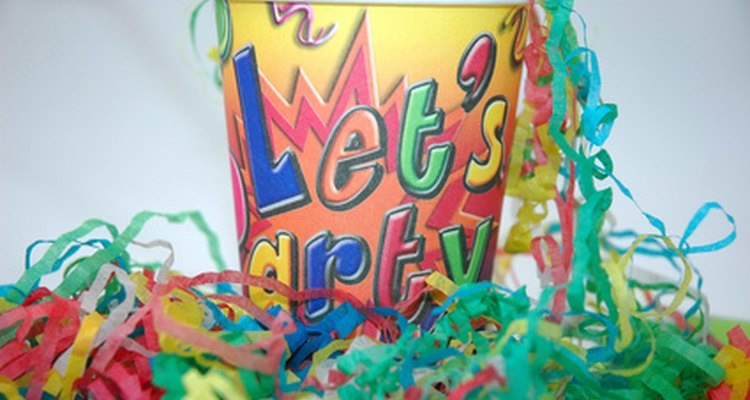 Paper party decorations are easy and inexpensive to make.